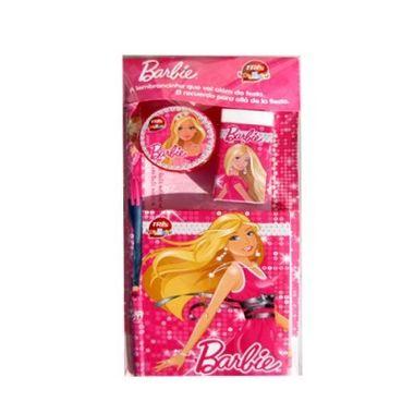 Kit-Escolar-Barbie---contem-Caderneta-Borracha-Apontador-e-Lapis---unidade
