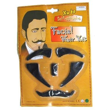 Kit-Facial---Sombrancelhas-Costeletas-Cavanhaque-e-Bigode---auto-colante---cartela
