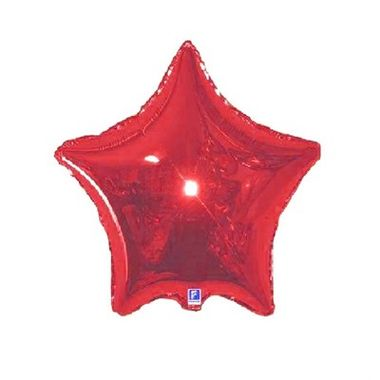 Balao-Estrela-20----metalizado---Vermelho---unidade