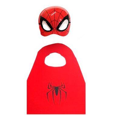 Kit-Homem-Aranha-Infantil---Capa-e-Mascara---Plastico---unidade