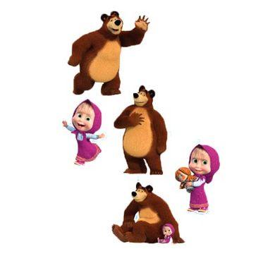 Kit-Painel-Masha-e-o-Urso---pequeno---impresso-e-e.v.a.---16-unidades