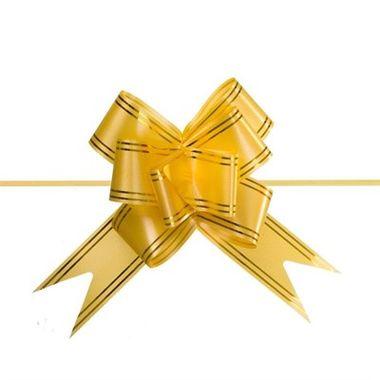Laco-Pronto-Grande---magico---fita---Dourado---pacote-10-unidades