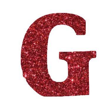 Letra-G-Glitter---e.v.a.---cor-Vermelha---unidade