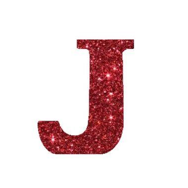Letra-J-Glitter---e.v.a.---cor-Vermelha---unidade
