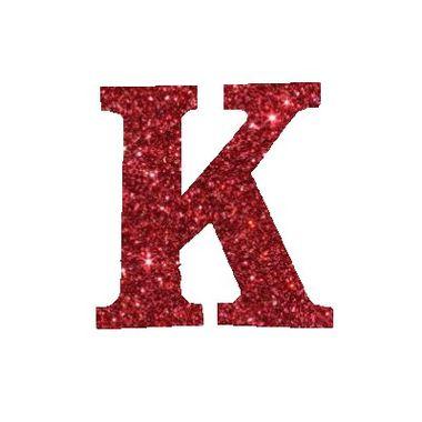 Letra-K-Glitter---e.v.a.---cor-Vermelha---unidade