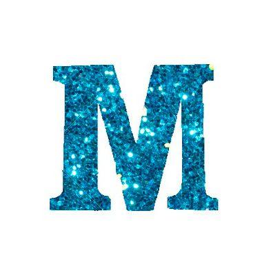 Letra-M-Glitter---e.v.a.---cor-Azul---unidade
