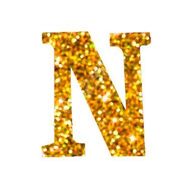 Letra-N-Glitter---e.v.a.---cor-Dourada---unidade