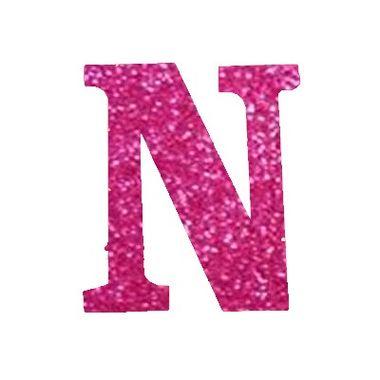 Letra-N-Glitter---e.v.a.---cor-Rosa---unidade