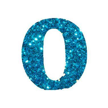 Letra-O-Glitter---e.v.a.---cor-Azul---unidade