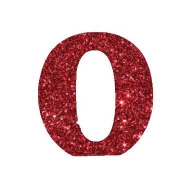 Letra-O-Glitter---e.v.a.---cor-Vermelha---unidade