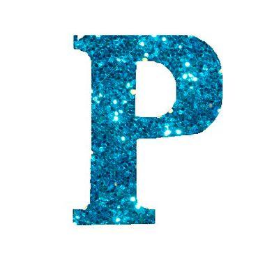 Letra-P-Glitter---e.v.a.---cor-Azul---unidade