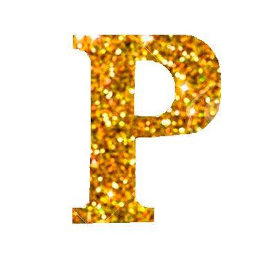 Letra-P-Glitter---e.v.a.---cor-Dourada---unidade