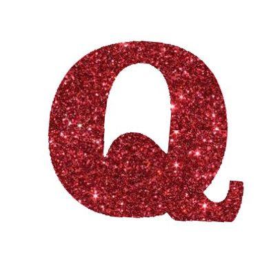 Letra-Q-Glitter---e.v.a.---cor-Vermelha---unidade