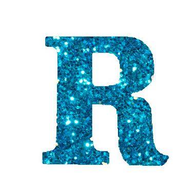 Letra-R-Glitter---e.v.a.---cor-Azul---unidade