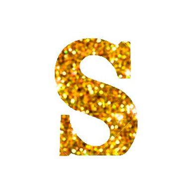 Letra-S-Glitter---e.v.a.---cor-Dourada---unidade