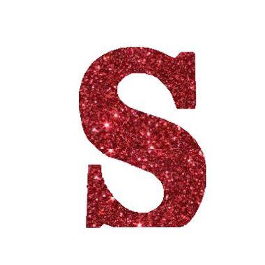 Letra-S-Glitter---e.v.a.---cor-Vermelha---unidade