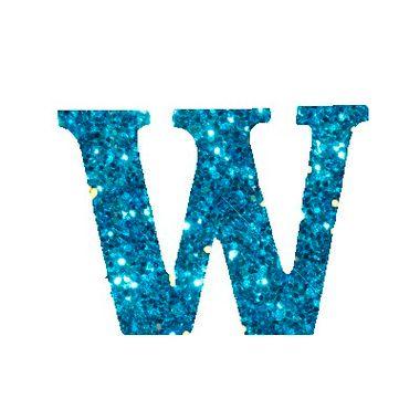 Letra-W-Glitter---e.v.a.---cor-Azul---unidade