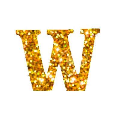 Letra-W-Glitter---e.v.a.---cor-Dourada---unidade