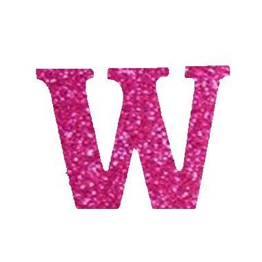Letra-W-Glitter---e.v.a.---cor-Rosa---unidade