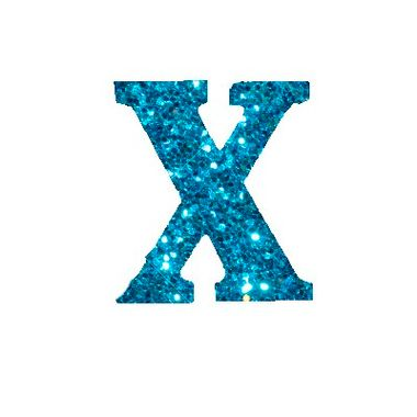 Letra-X-Glitter---e.v.a.---cor-Azul---unidade