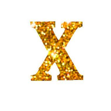 Letra-X-Glitter---e.v.a.---cor-Dourada---unidade