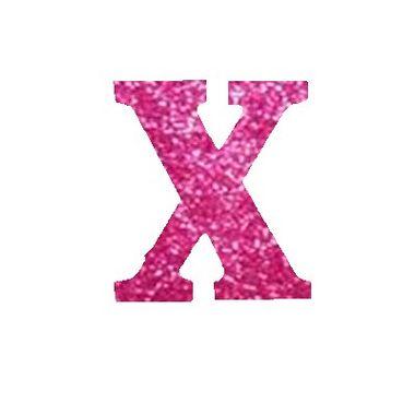 Letra-X-Glitter---e.v.a.---cor-Rosa---unidade