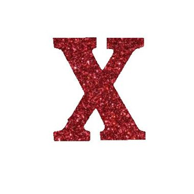 Letra-X-Glitter---e.v.a.---cor-Vermelha---unidade