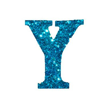 Letra-Y-Glitter---e.v.a.---cor-Azul---unidade