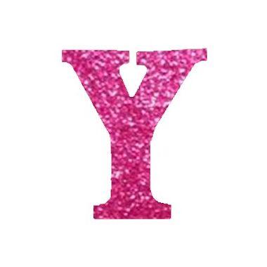 Letra-Y-Glitter---e.v.a.---cor-Rosa---unidade