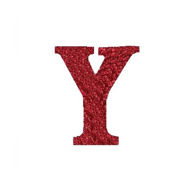 Letra-Y-Glitter---e.v.a.---cor-Vermelha---unidade