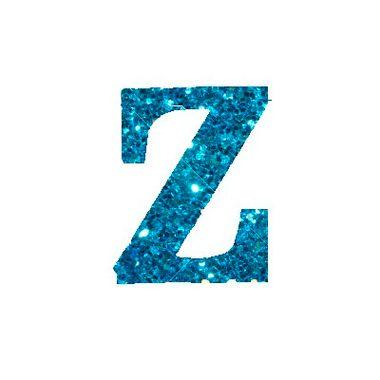 Letra-Z-Glitter---e.v.a.---cor-Azul---unidade