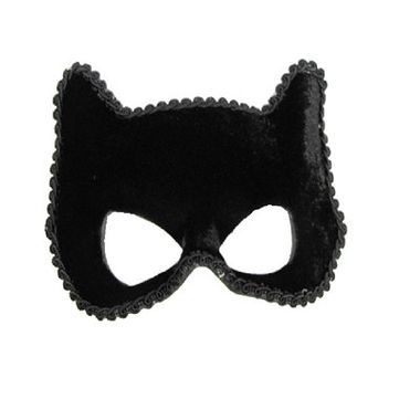 Mascara-Felina-Luxo---Preta---Veludo-e-Adornos---unidade