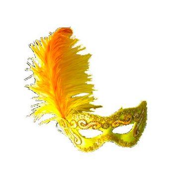 Mascara-Gala-Imperial---pedras-plumas-e-adornos---Amarela---unidade