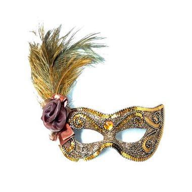 Mascara-Gala-Imperial---pedras-plumas-e-adornos---Marrom---unidade
