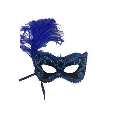Mascara-Gala-Imperial---pedras-plumas-e-adornos---Preta-com-Azul-Royal---unidade