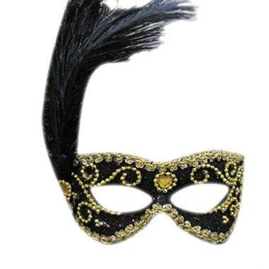 Mascara-Gala-Imperial---pedras-plumas-e-adornos---Preta-com-Ouro---unidade