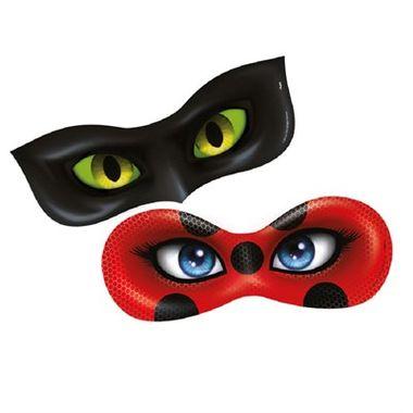 Mascara-Ladybug---Miraculous---cartonagem---06-unidades