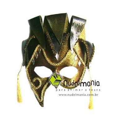 Mascara-Netuno-Luxo---e.v.a.--pedras-aderecos---Bronze-e-Ouro---unidade