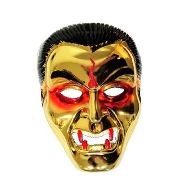 Mascara-Vampiro-Metalizada---Ouro---plastico---unidade