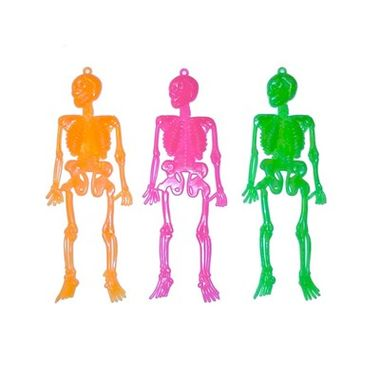 Mini-Esqueleto---cores-neon---pacote-12-unidades