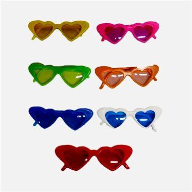 Oculos-Coracao---com-lentes---plastico---cores-sortidas---pacote-05-unidades