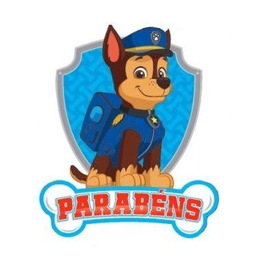 Painel-Parabens-Patrulha-Canina---Chase---e.v.a.---unidade