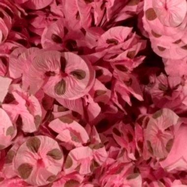 Papel-Rococo-Poa---para-bala-e-decoracao---cor-Rosa-com-Marrom---pacote-48-unidades