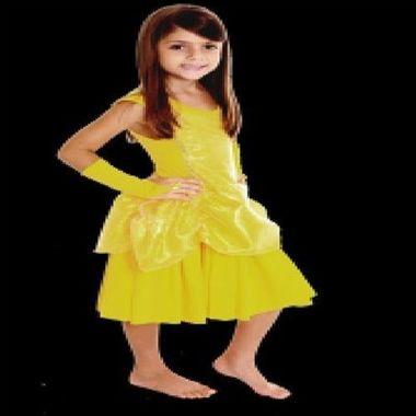 Pijama-Princesa-Amarela-Infantil-Tamanho-G-unidade