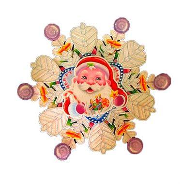 Placa-Decorativa-Boas-Festas-3D---Papai-Noel---Natal---cartonagem-e-glitter---unidade