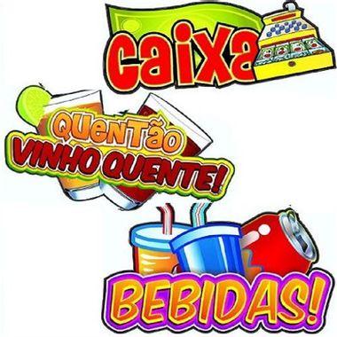 Placa-Decorativa-Festa-Junina---Caixa-Quentao-Bebidas---cartonagem---embalagem-3-unidades
