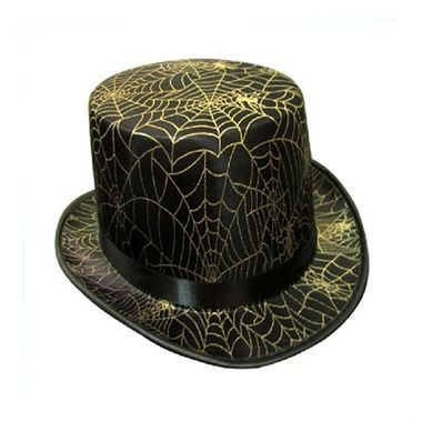 Cartola-Halloween---Teia-Dourado---Tecido---unidade