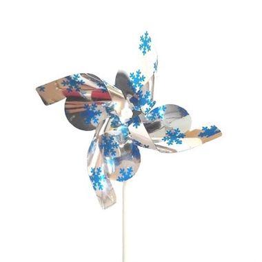 Catavento-Flocos---metalizado---cor-Prata-com-Azul---unidade