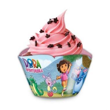 Porta-Cupcake-Dora-a-Aventureira---pacote-08-unidades