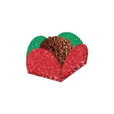 Porta-Forminha---Glitter-Vermelho-com-Verde---pacote-40-unidades